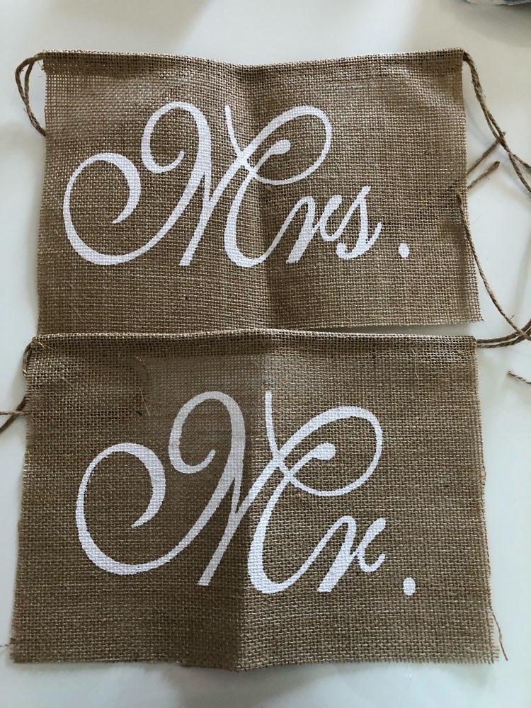 Nápisy na židli Mr a Mrs - Obrázek č. 1