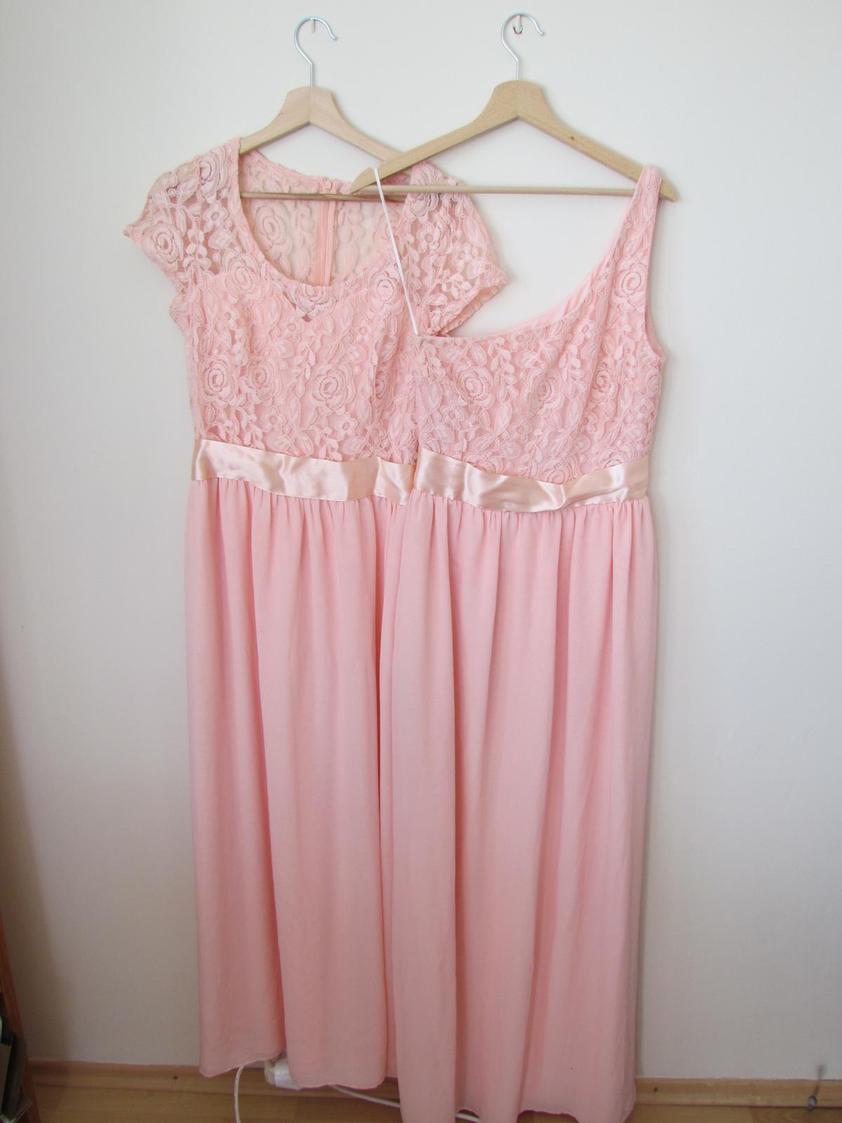 Marhuľovo ružové spoločenské/ družičkovské šaty - Obrázok č. 1
