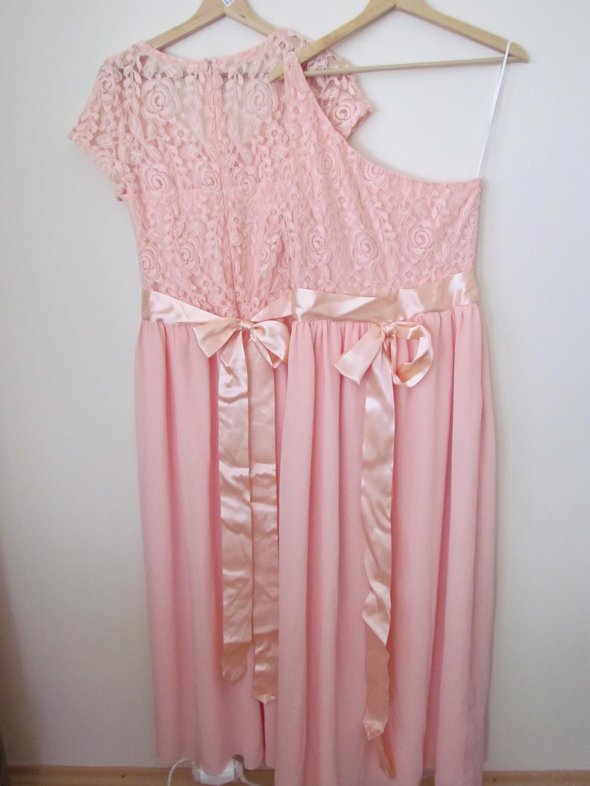 Marhuľovo ružové spoločenské/ družičkovské šaty - Obrázok č. 3