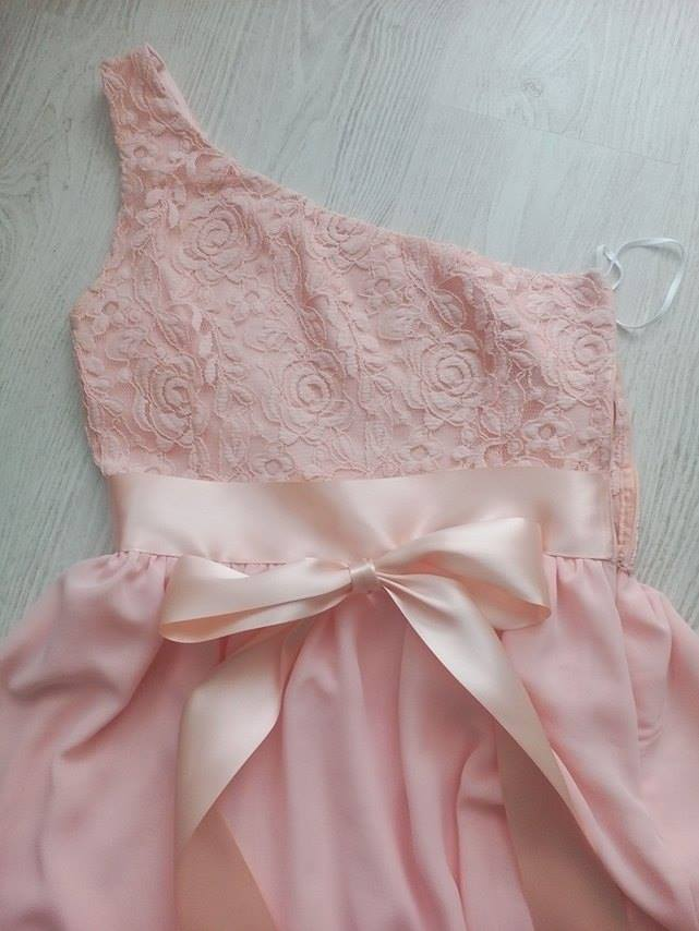 Marhuľovo ružové spoločenské/ družičkovské šaty - Obrázok č. 4