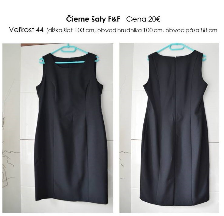 "Čierne ""classic"" šaty F&F - Obrázok č. 1"