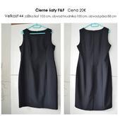 "Čierne ""classic"" šaty F&F, 44"