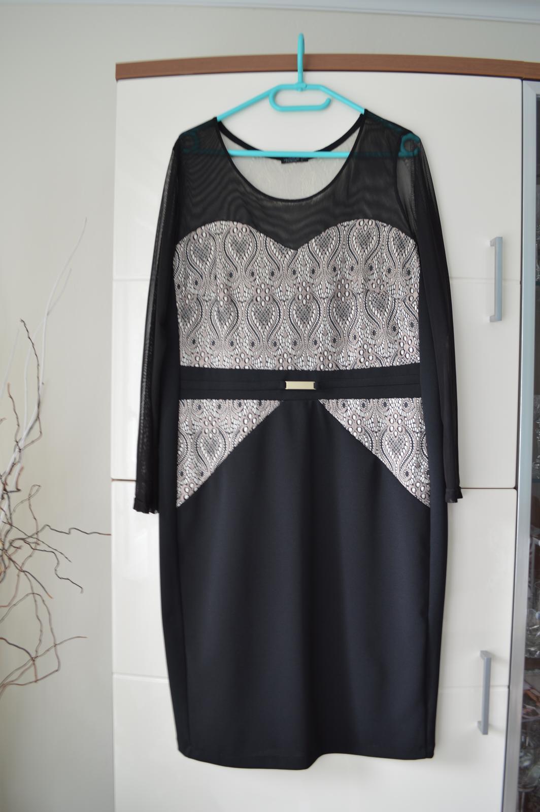 Pekné elegantné čierne šaty - aj pre svadobnú mamu - Obrázok č. 1