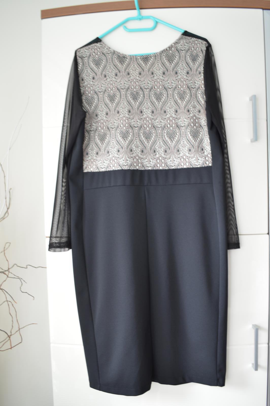 Pekné elegantné čierne šaty - aj pre svadobnú mamu - Obrázok č. 3
