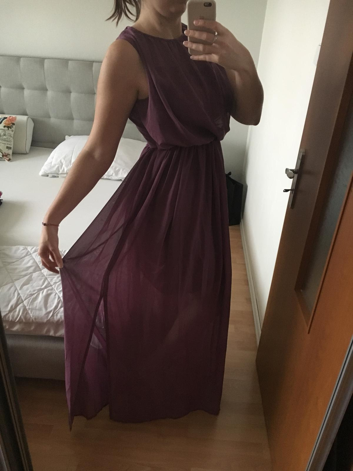 Fialové dlhé šaty pre družičky - Obrázok č. 2