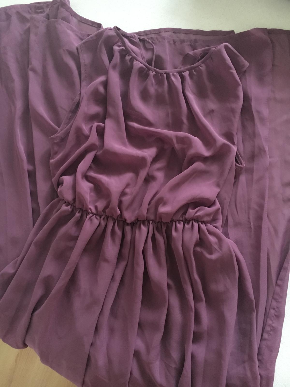 Fialové dlhé šaty pre družičky - Obrázok č. 4