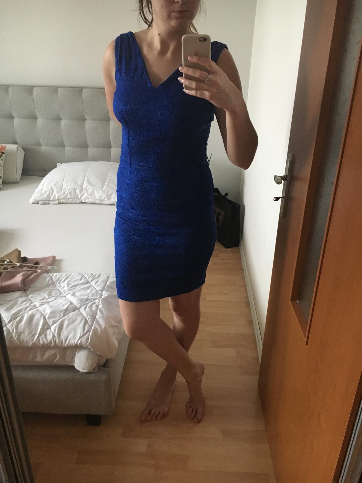 Modré elegantné šaty Mohito - Obrázok č. 2