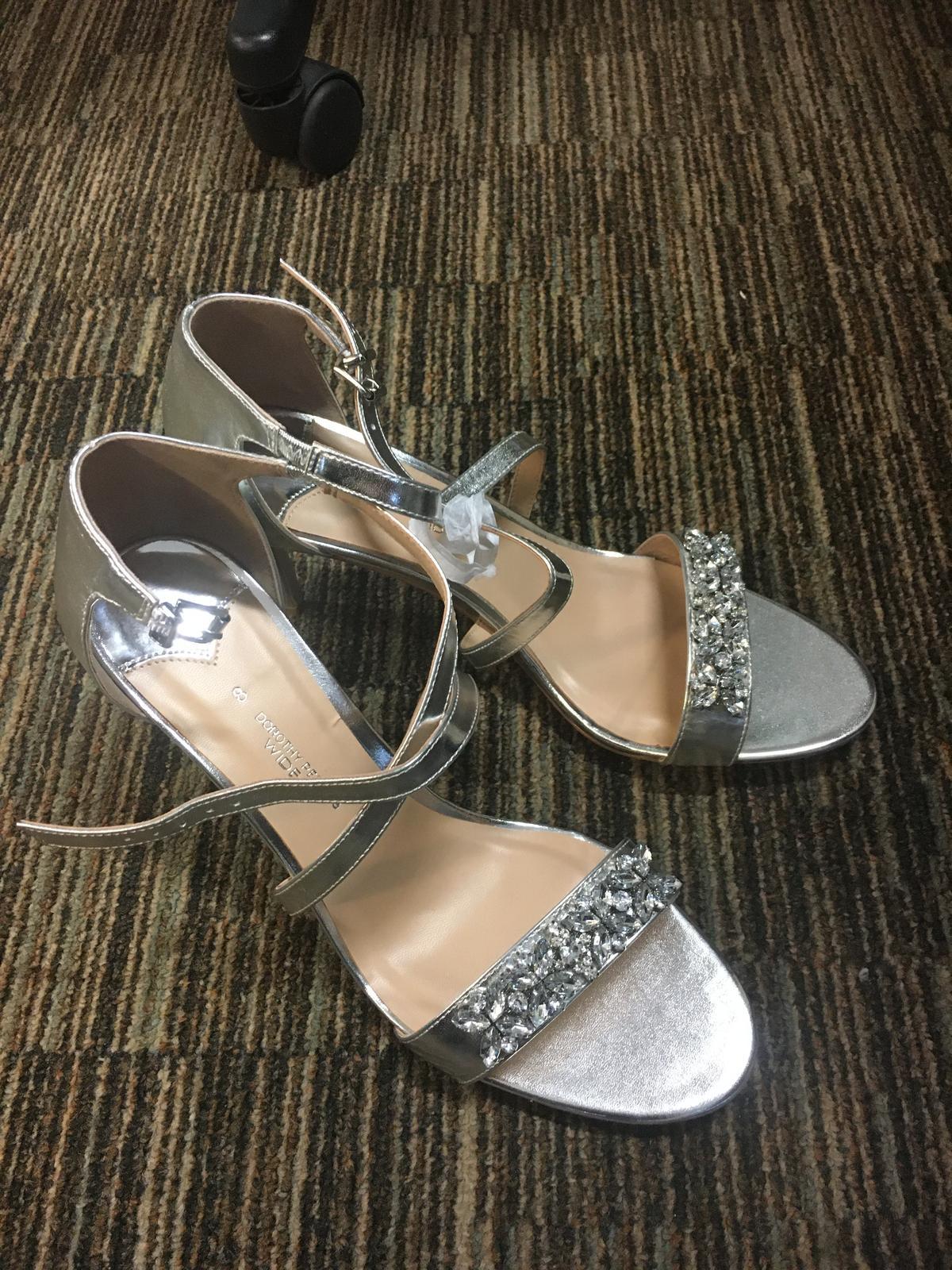 Strieborné elegantné topánky Dorothy Perkins - Obrázok č. 1