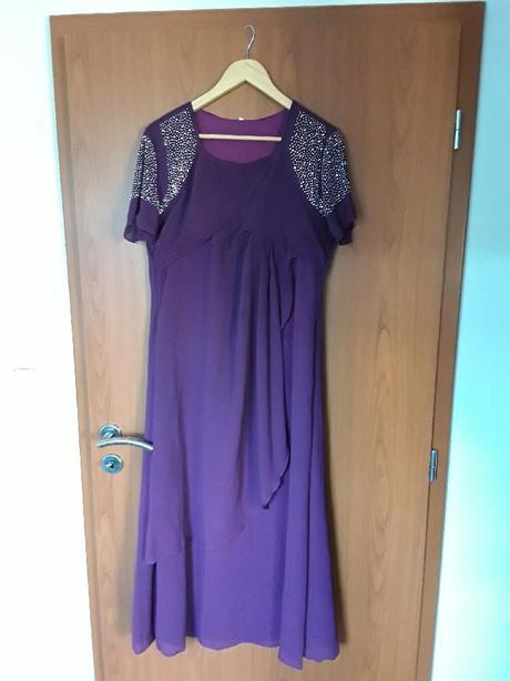 Společenské šaty tmavě fialové - Obrázek č. 1