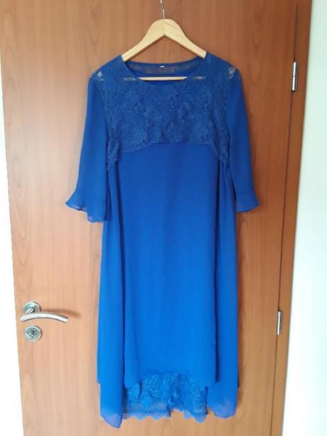 Společenské šaty modré  - Obrázek č. 1