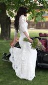 Svatební šaty vel 34/36, Boho, Rustic, Provance , 34