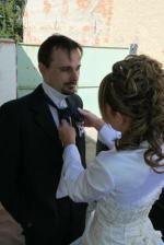 Úprava kravaty švagrovi :-)