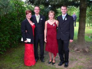 Naši svatební kamarádi (vpravo ženichův svědek)