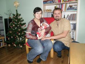 Vánoce 2008 už jsme trávili s naší 4denní dcerkou Karolínkou