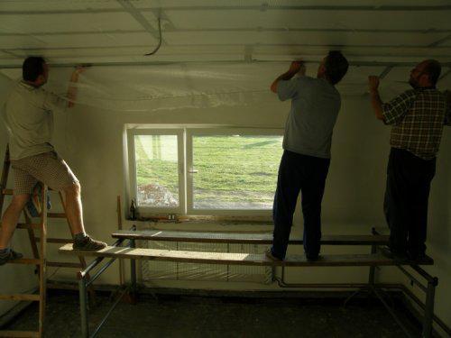 Naše bydleníčko - ... a dnes se dělala konstrukce na sádroš + se začíná se sádrokartonem