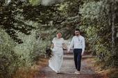boho hedvábné svatební šaty velikost 38-42, 40