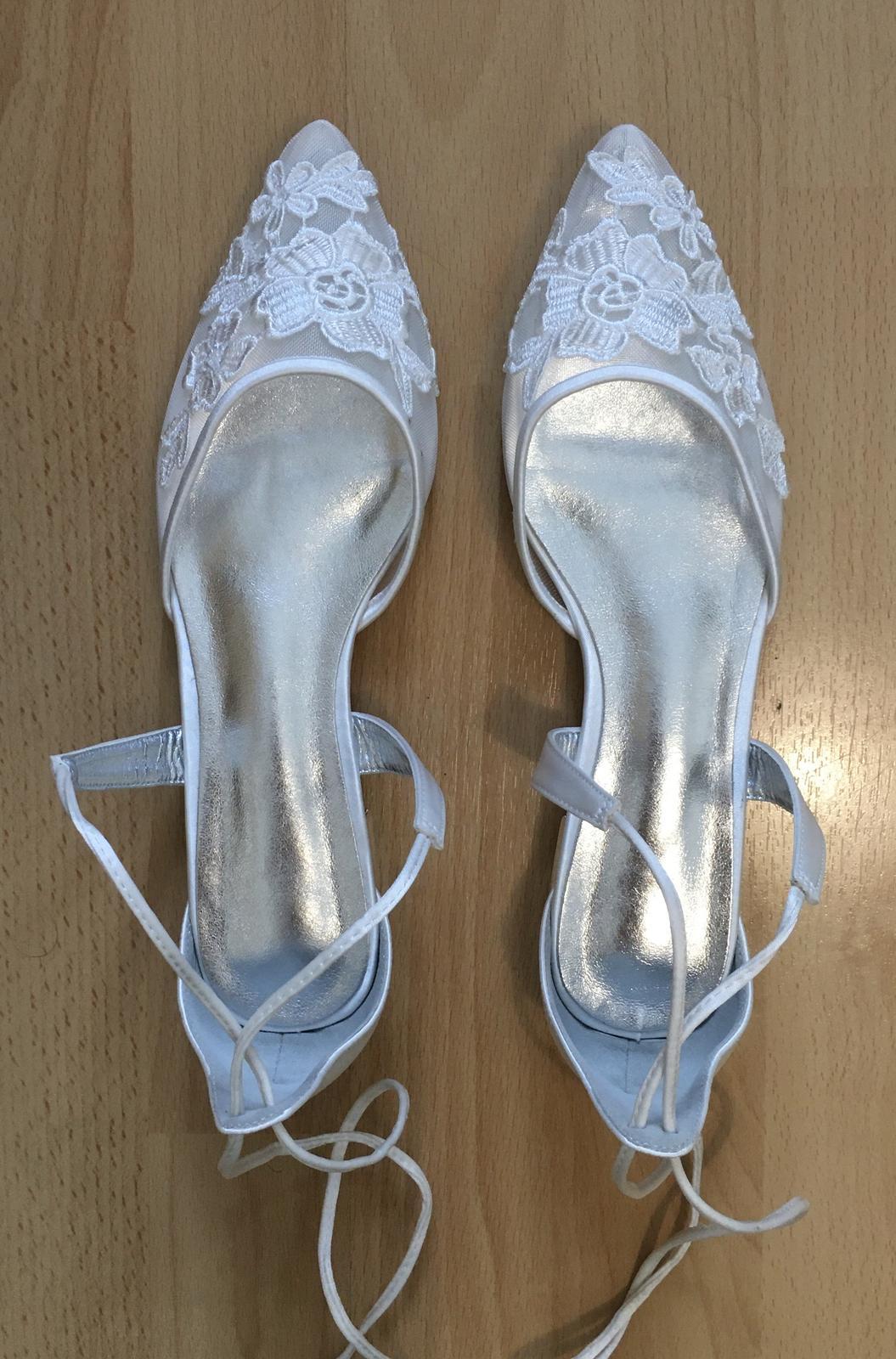 Nové svatební boty IVORY na nízkém podpadku se šněrováním - Obrázek č. 1