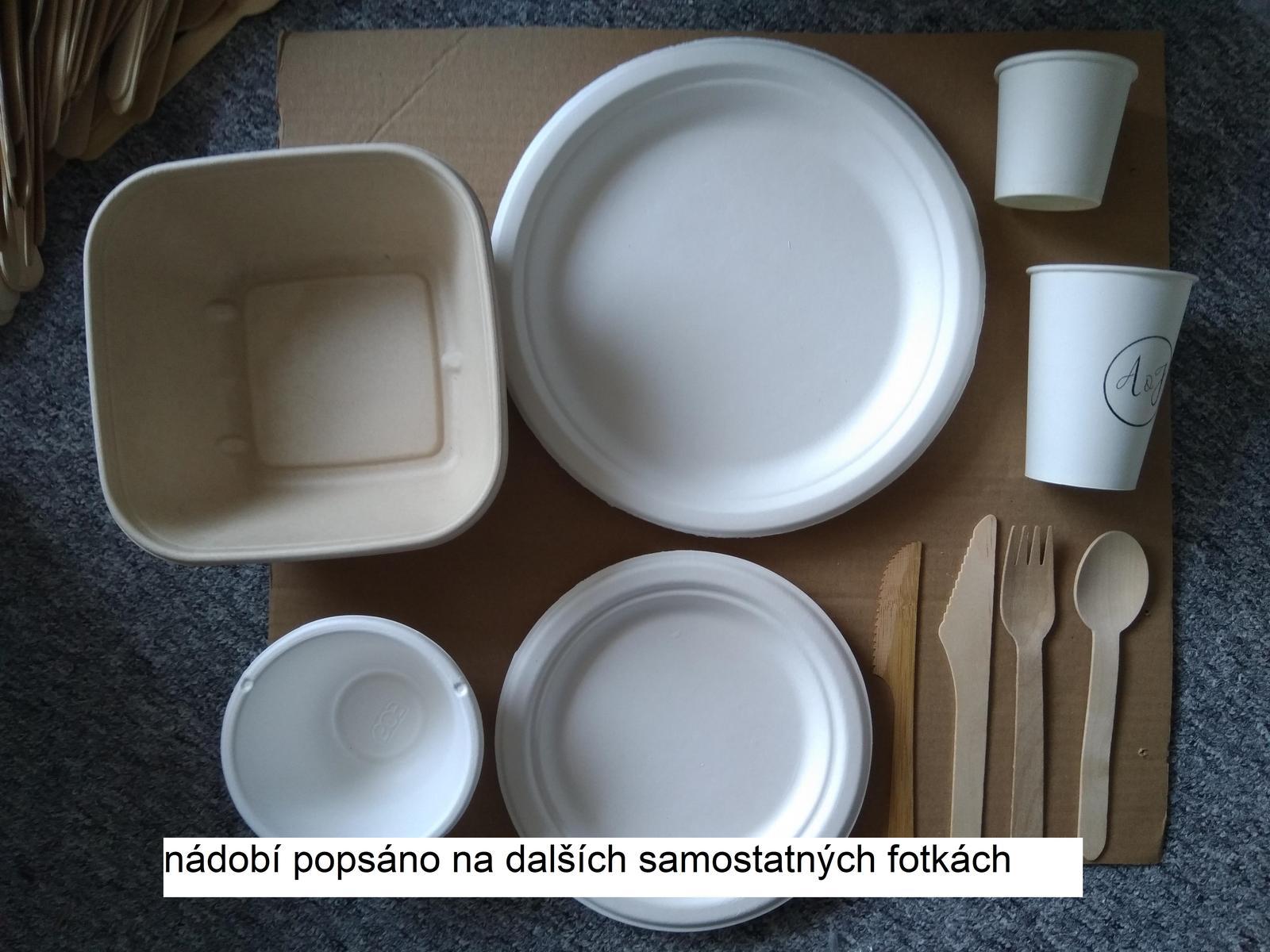 Papírové a dřevěné nádobí - Obrázek č. 1