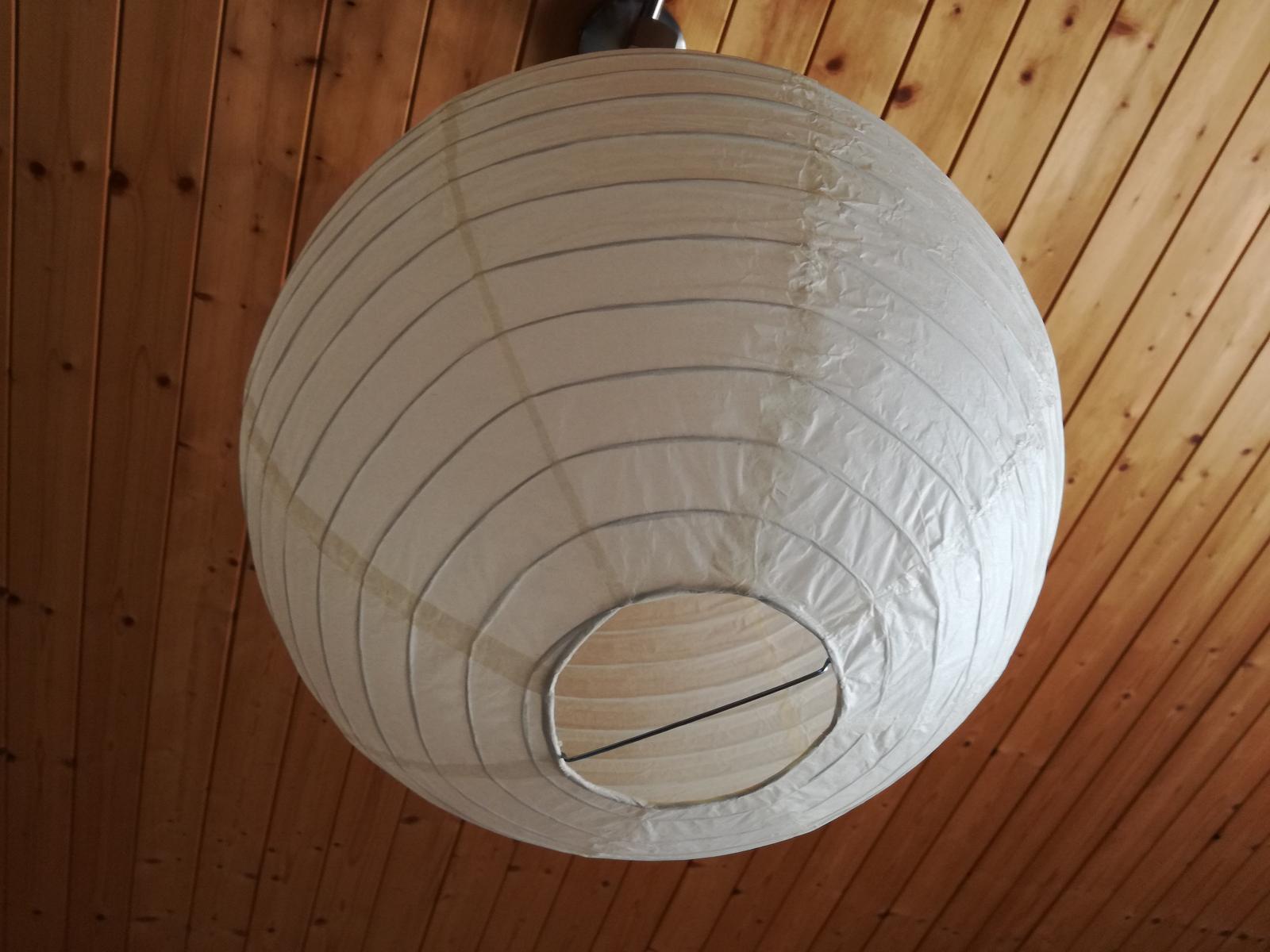 Lampión béžový/ivory velký - 20 ks - Obrázek č. 1