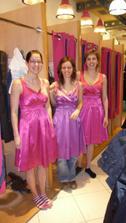 zkouška šatů pro družičky :-)