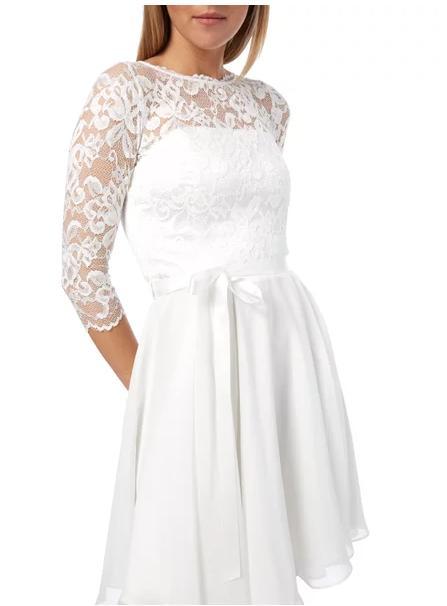 Svatební / popůlnoční krátké šaty - Obrázek č. 1