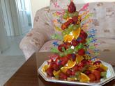 Pyramida z ovoce k čokoládové fontáně