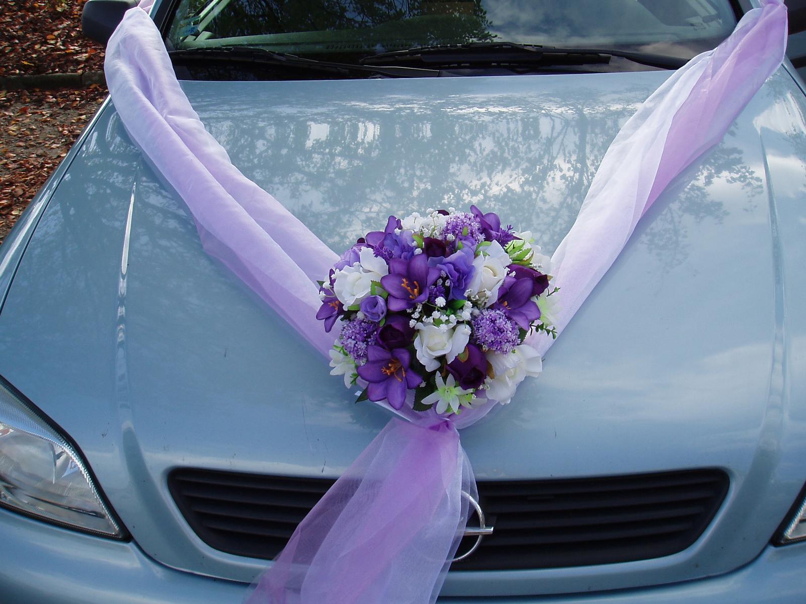Fialová svatba - s dvojšerpou bílo-fialovou