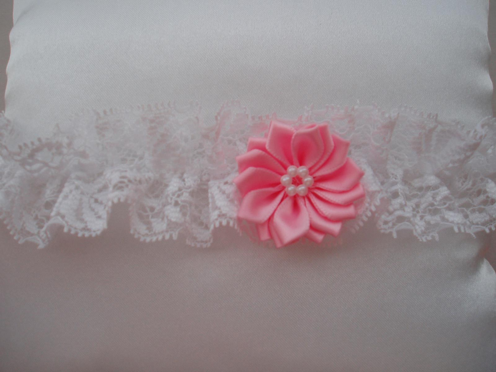 Nové podvazky a vývazky-kytičkové - růžová (baby)