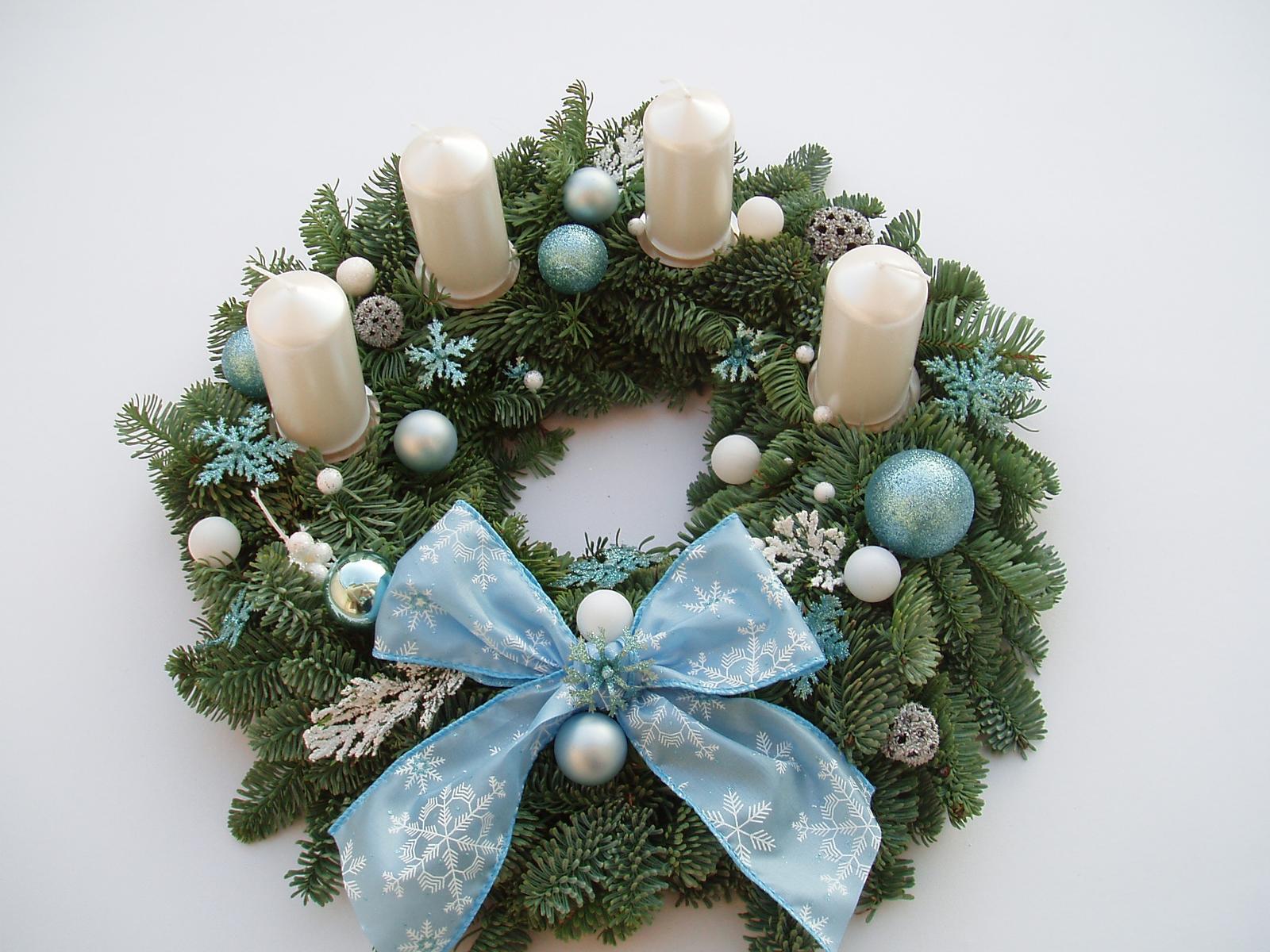 Těšíme se na Vánoce - ledově modrý