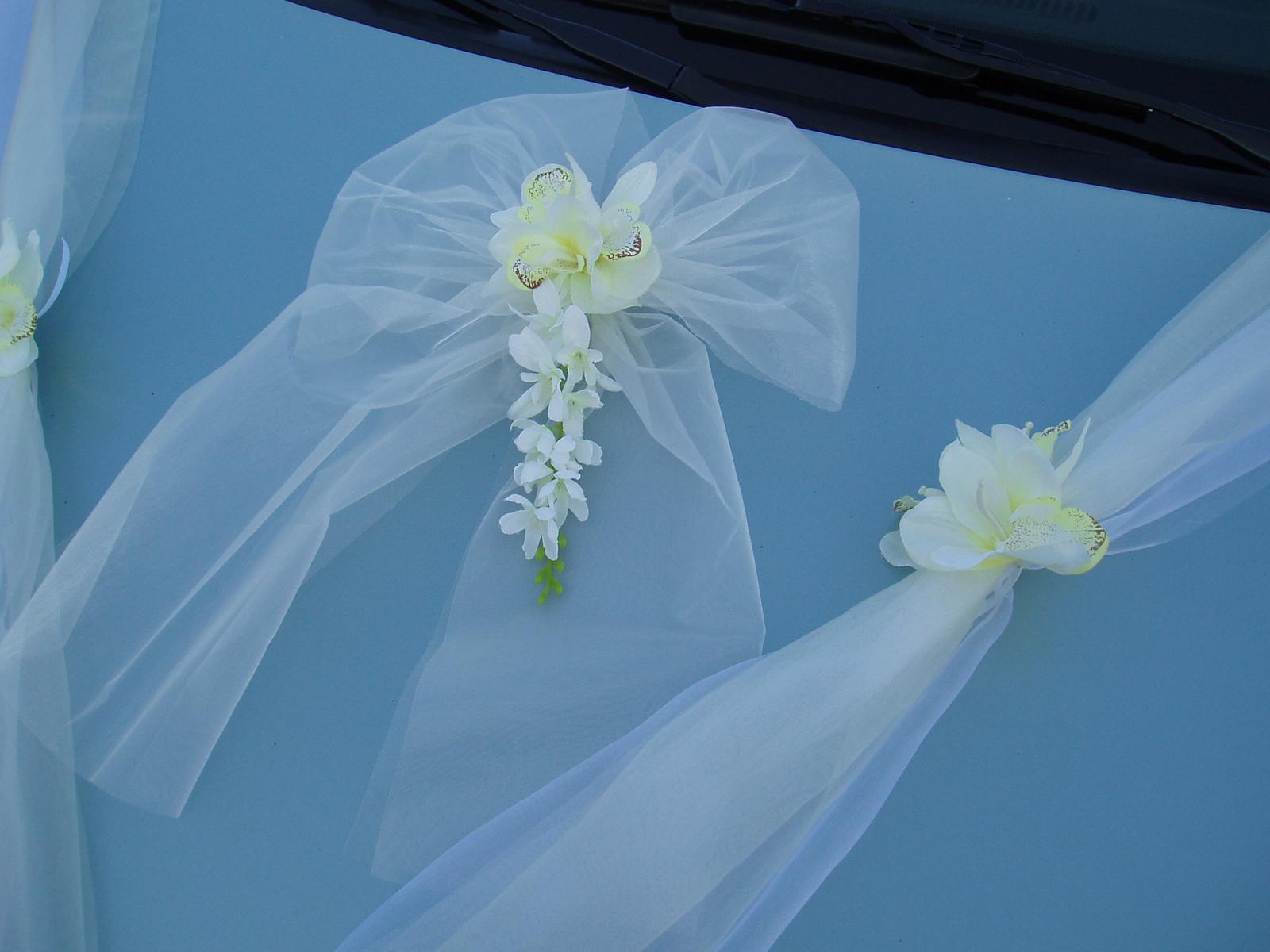 Svatební dekorace - dvojšerpa bílo-smetanová