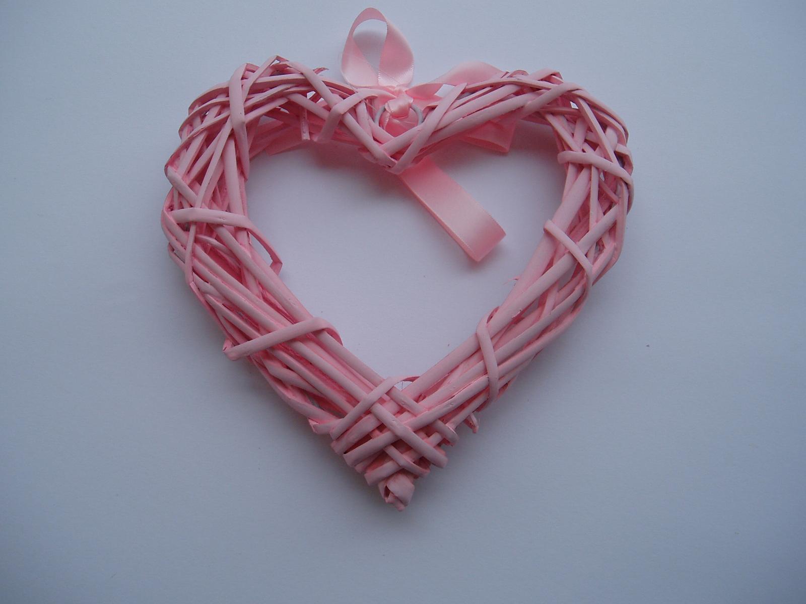 Svatební dekorace - srdce růžové