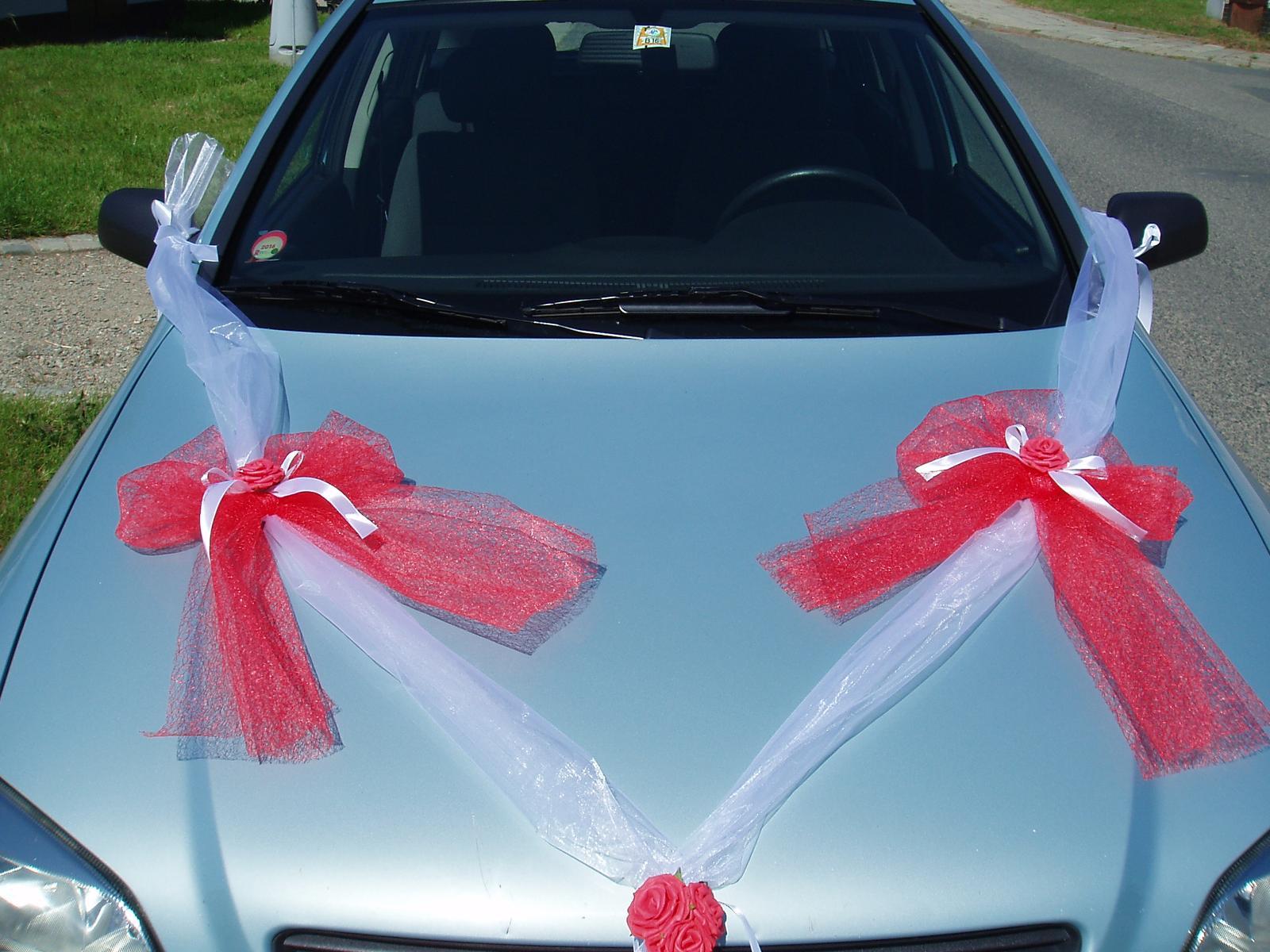 Svatební dekorace - šerpa červená