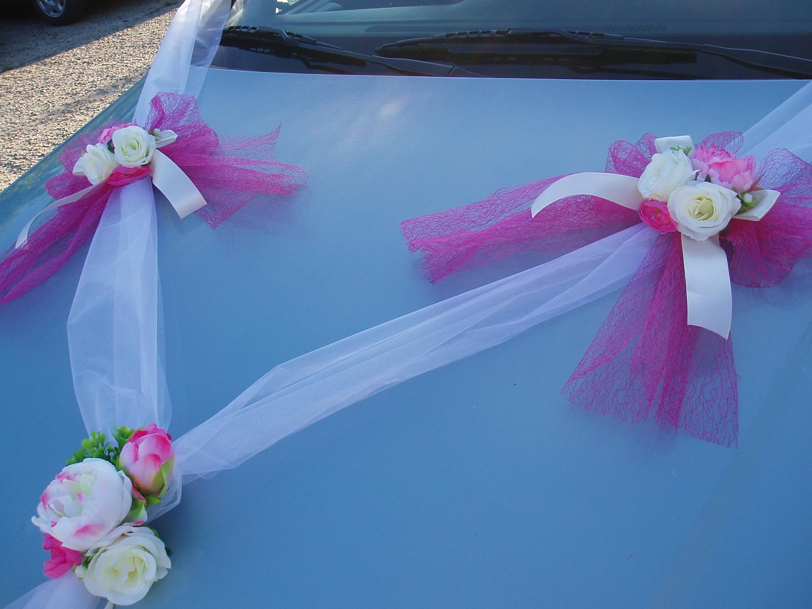 Svatební dekorace - šerpa fuchsiová