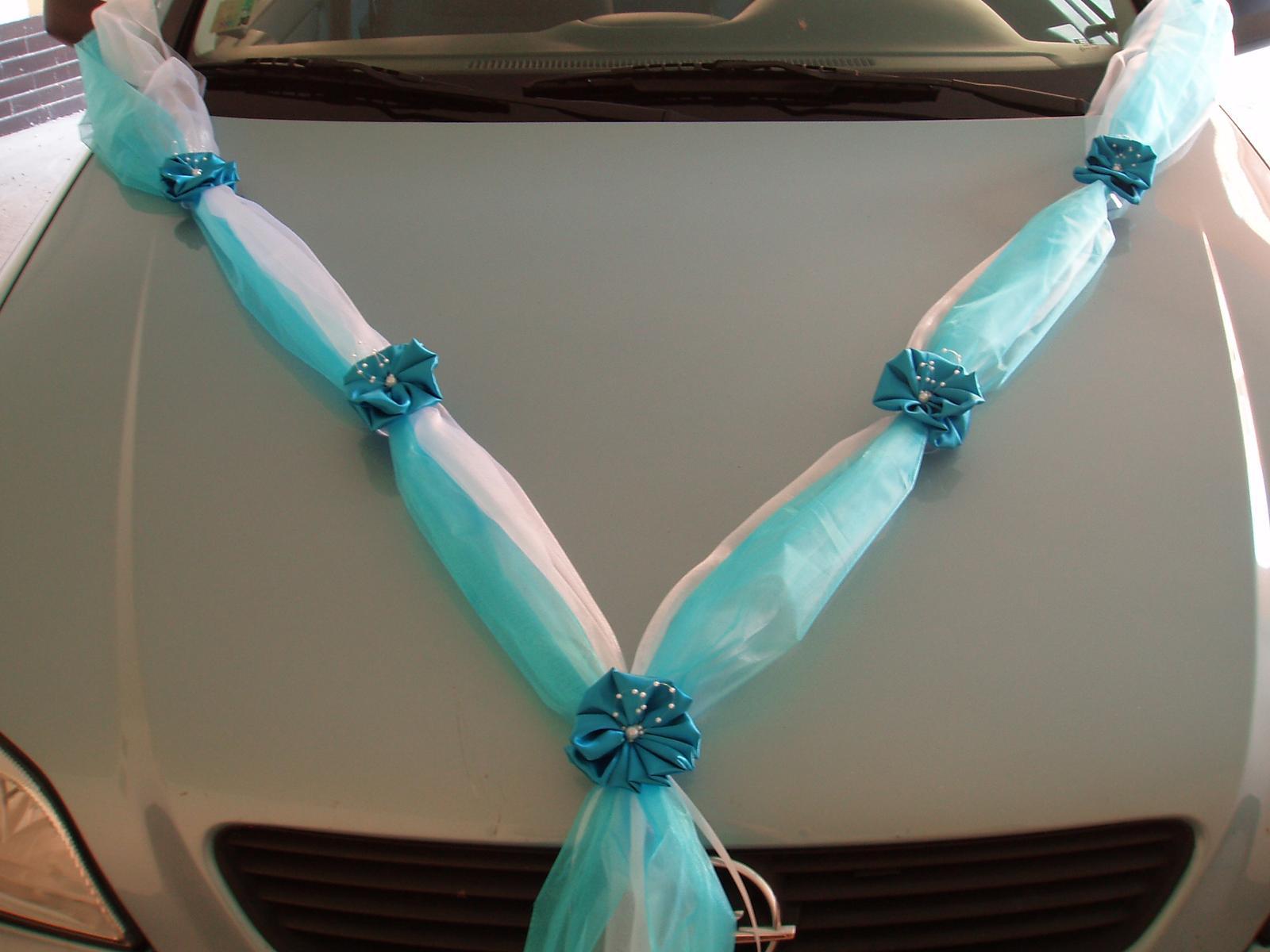 Svatební dekorace - šerpa tyrkysová