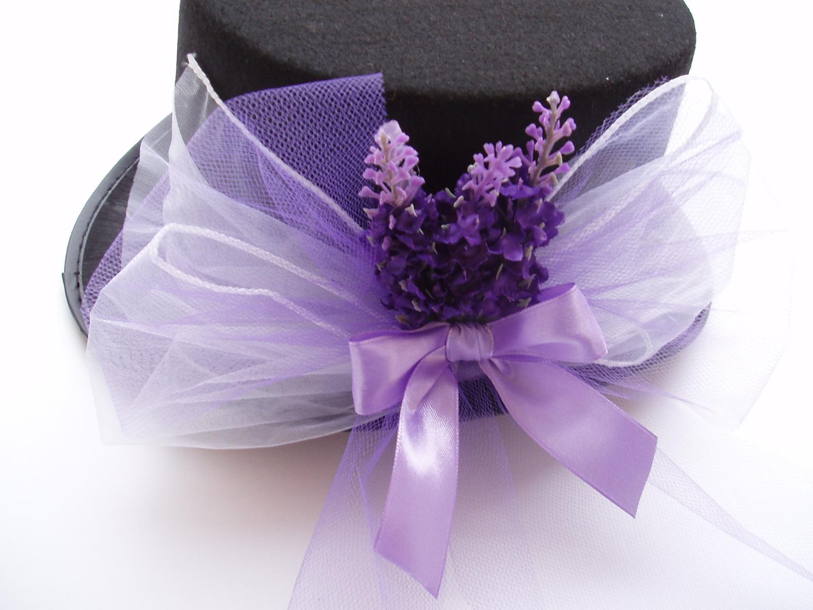 Svatební dekorace - cylindr levandule