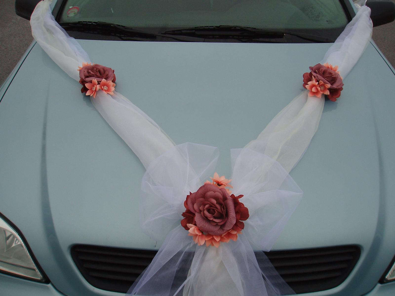 Svatební dekorace - šerpa- hnědá