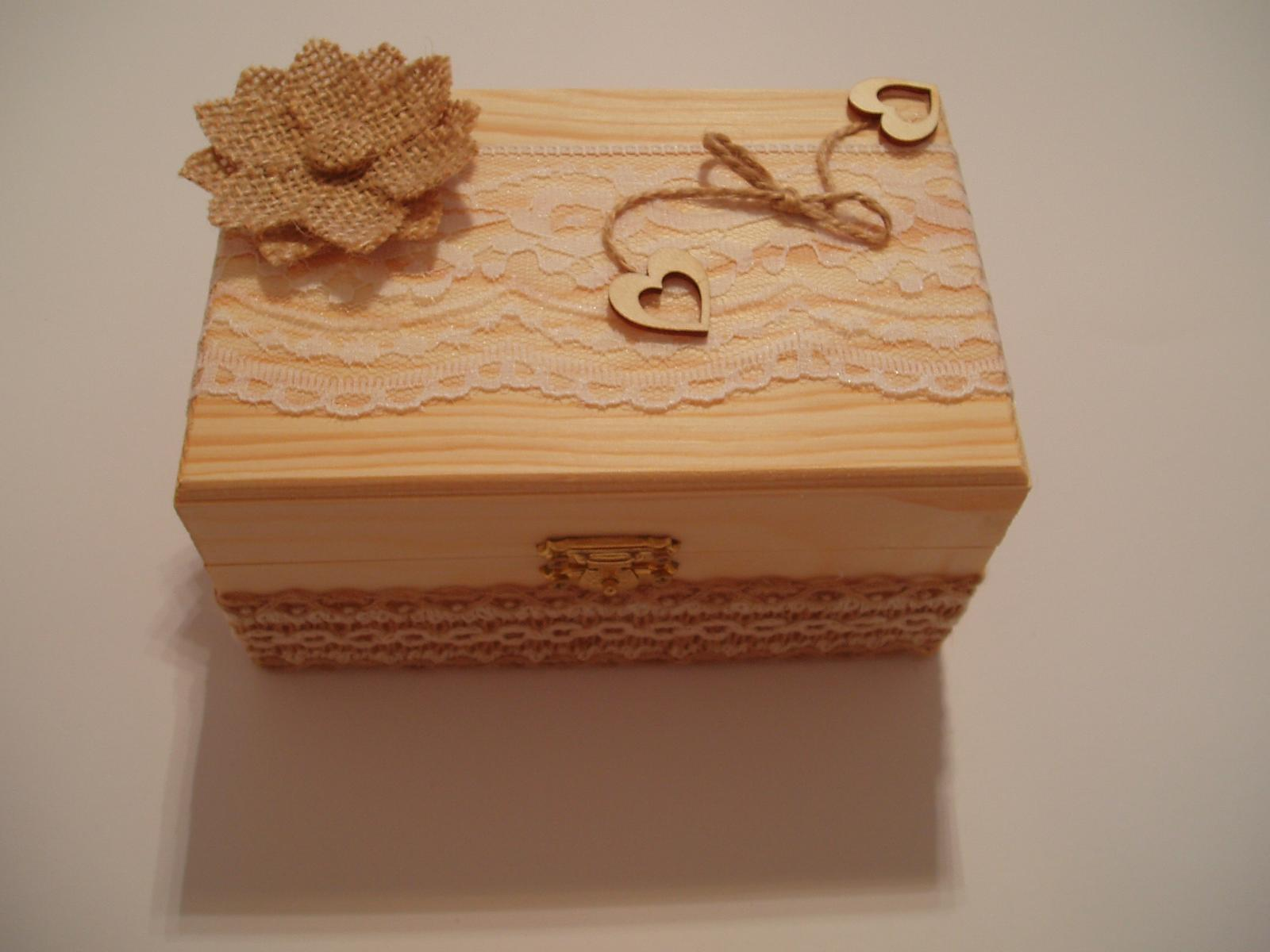 Svatební dekorace - krabička na prstýnky