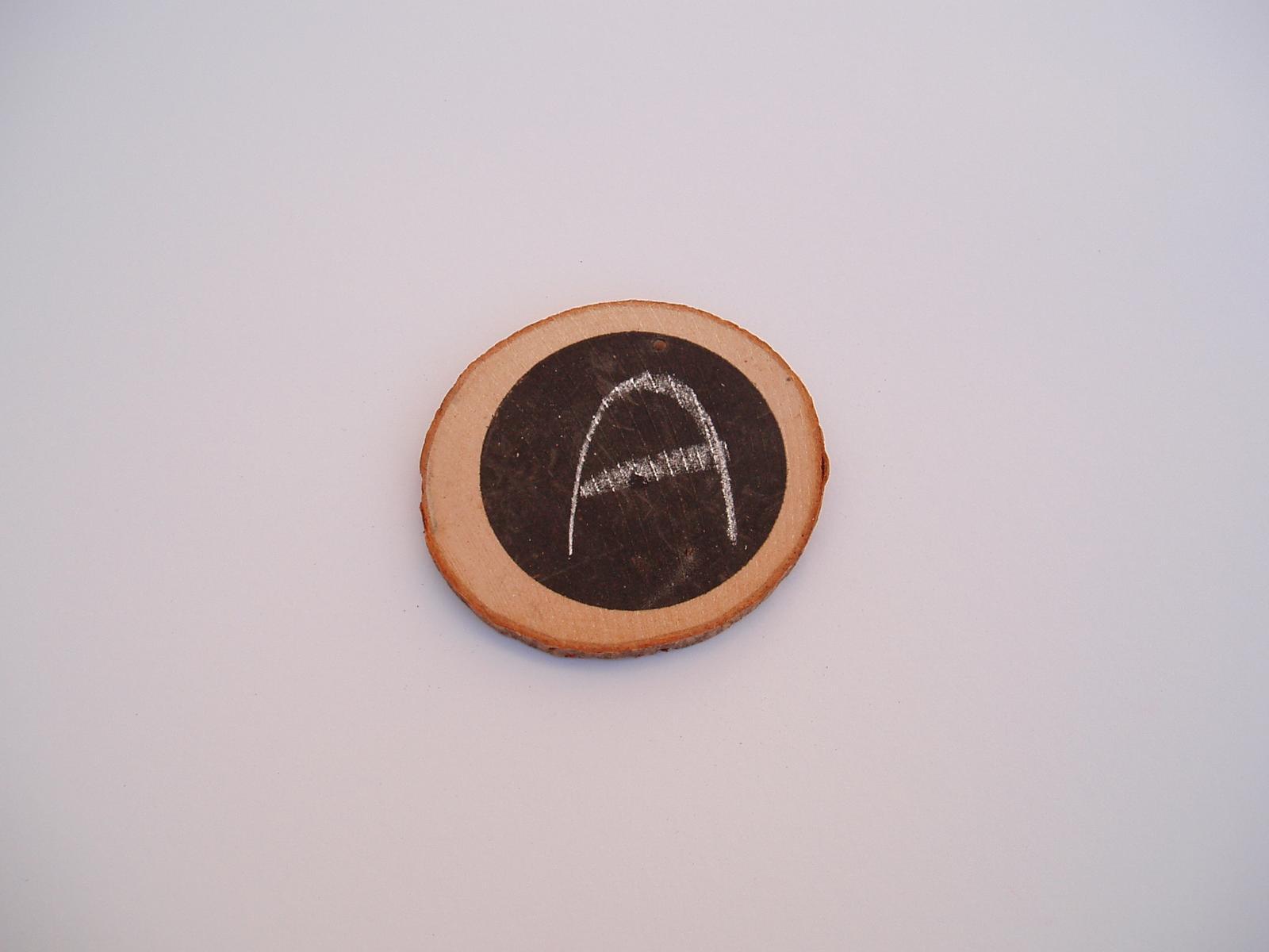 Svatební dekorace - dřevěné kolečko s tabukou