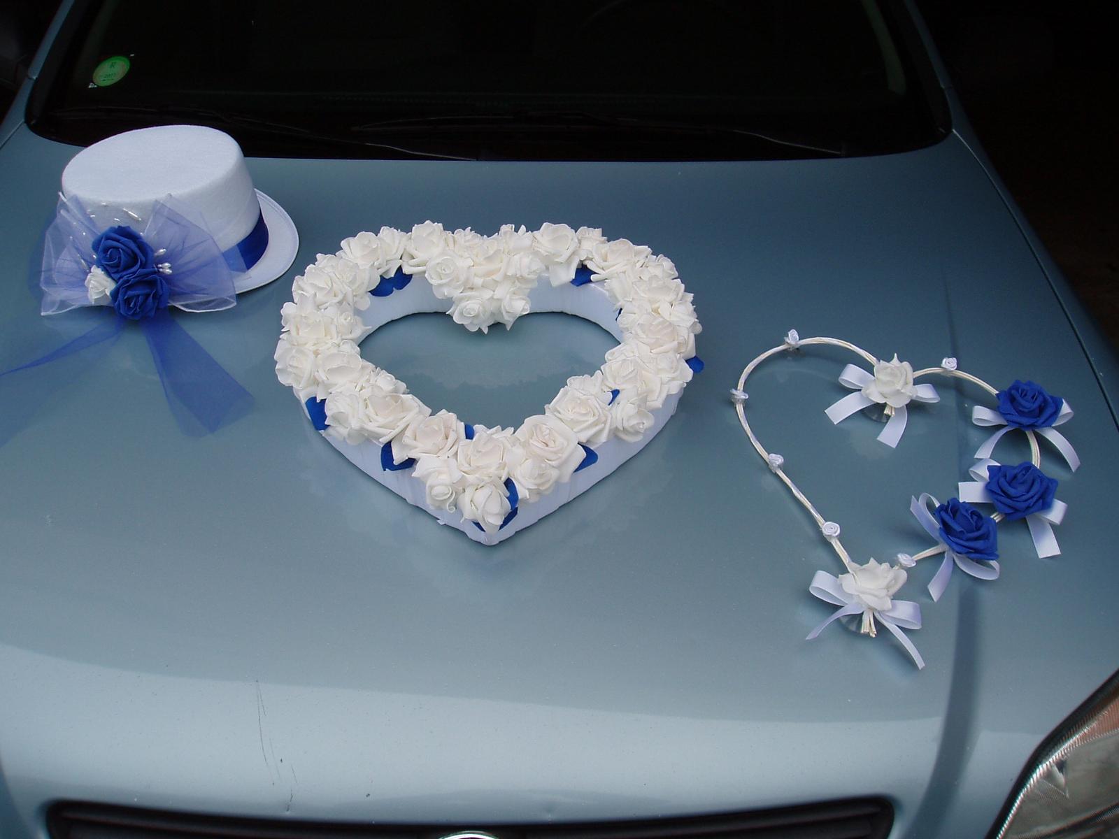 Svatební dekorace - dekorace na auto