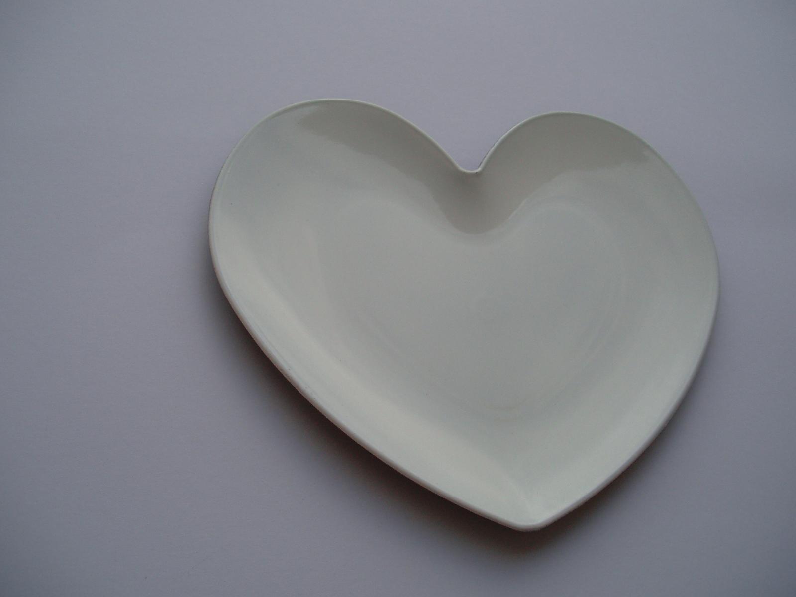 Svatební dekorace - podložka pod prstýnky-srdce