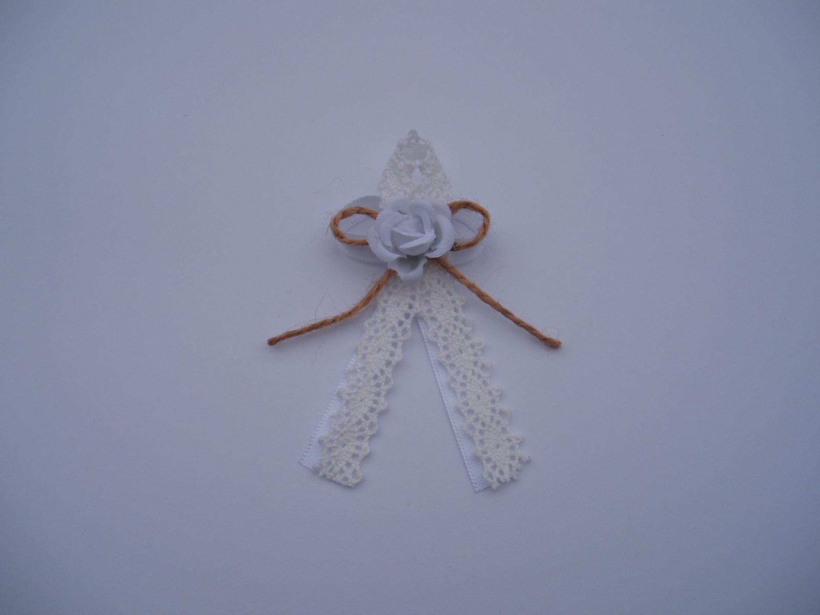 Svatební dekorace - vývazek-krajka