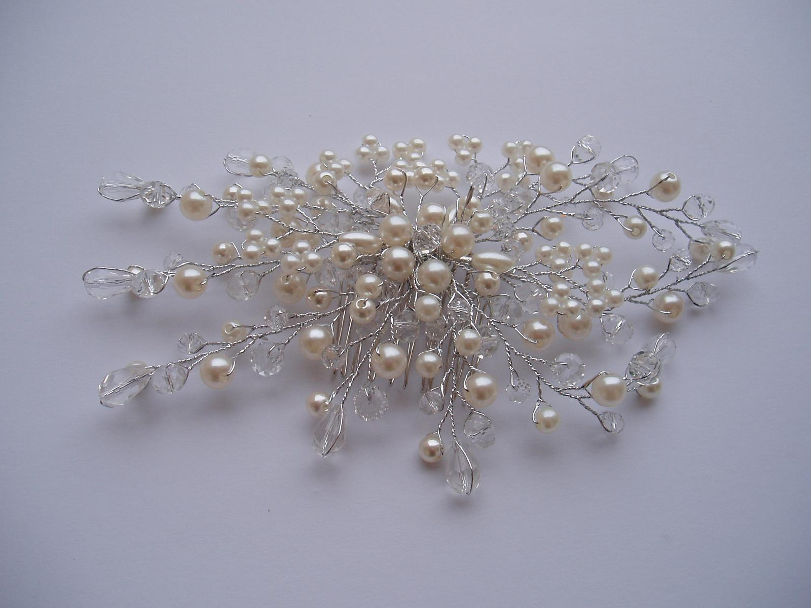 Svatební dekorace - hřebínek do vlasů
