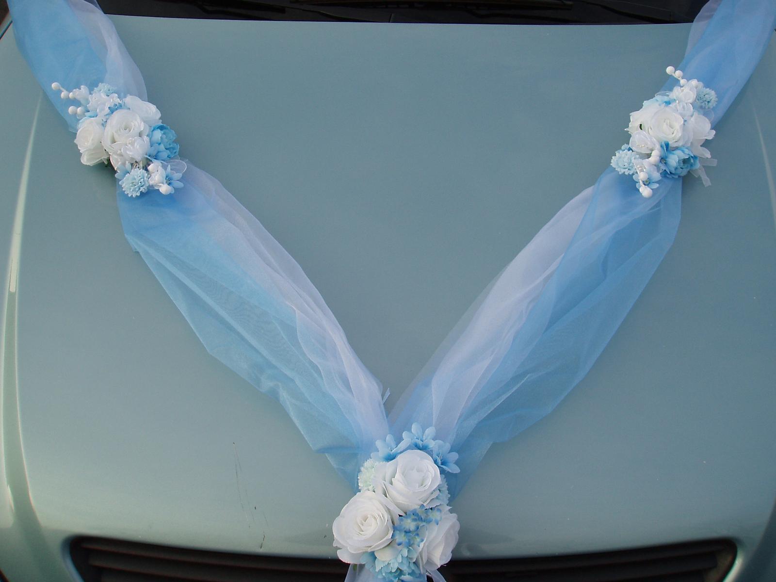 Svatební dekorace - Šerpa modrá