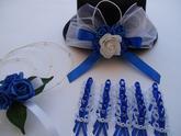 svatební set modrý