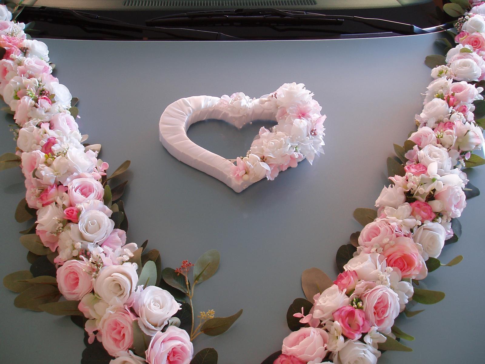 Svatební dekorace - Květinová dekorace na auto nebo stoly