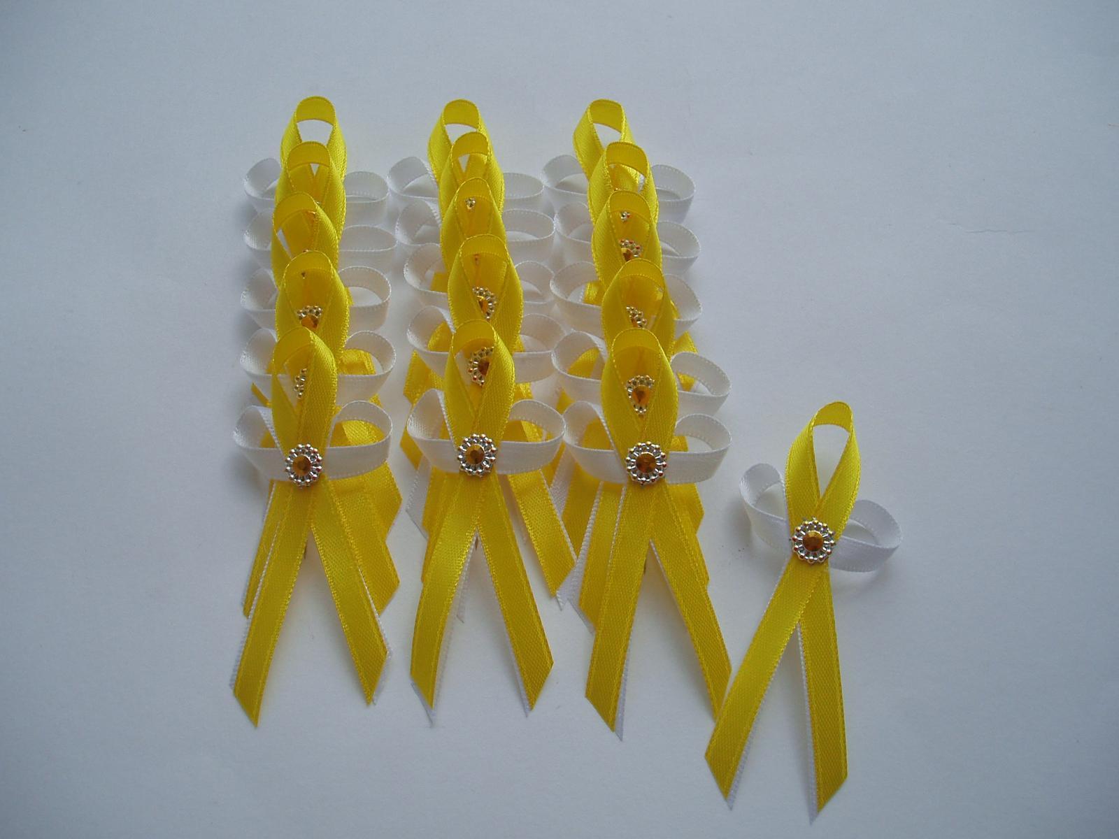 Svatební dekorace - Vývazek žlutý