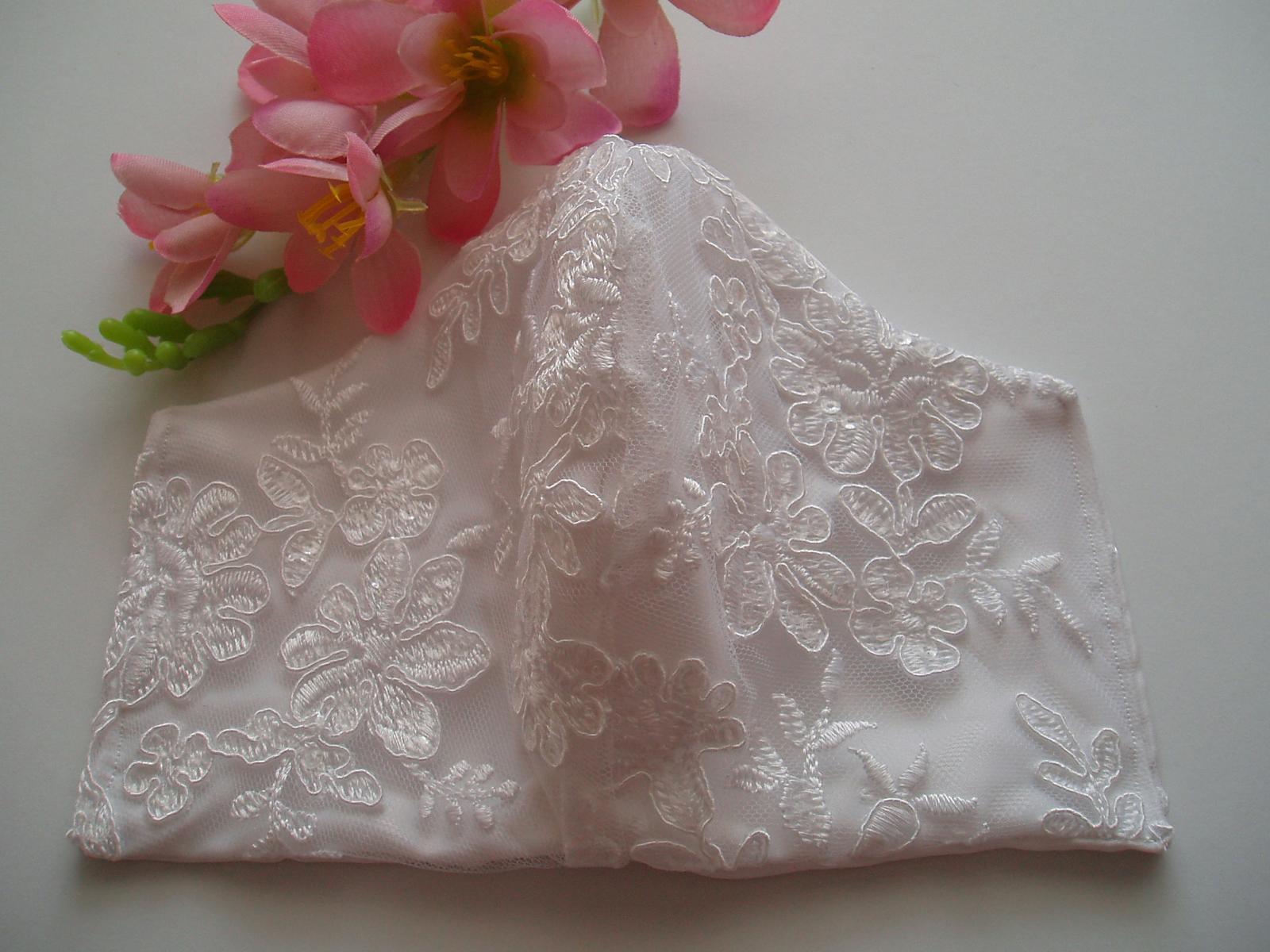 Svatební rouška - svatební rouška krajková