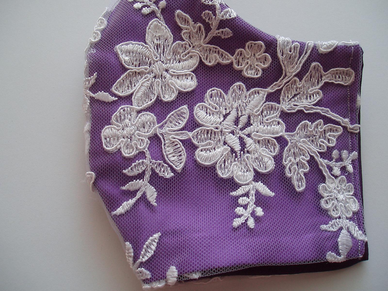 Svatební rouška - fialová