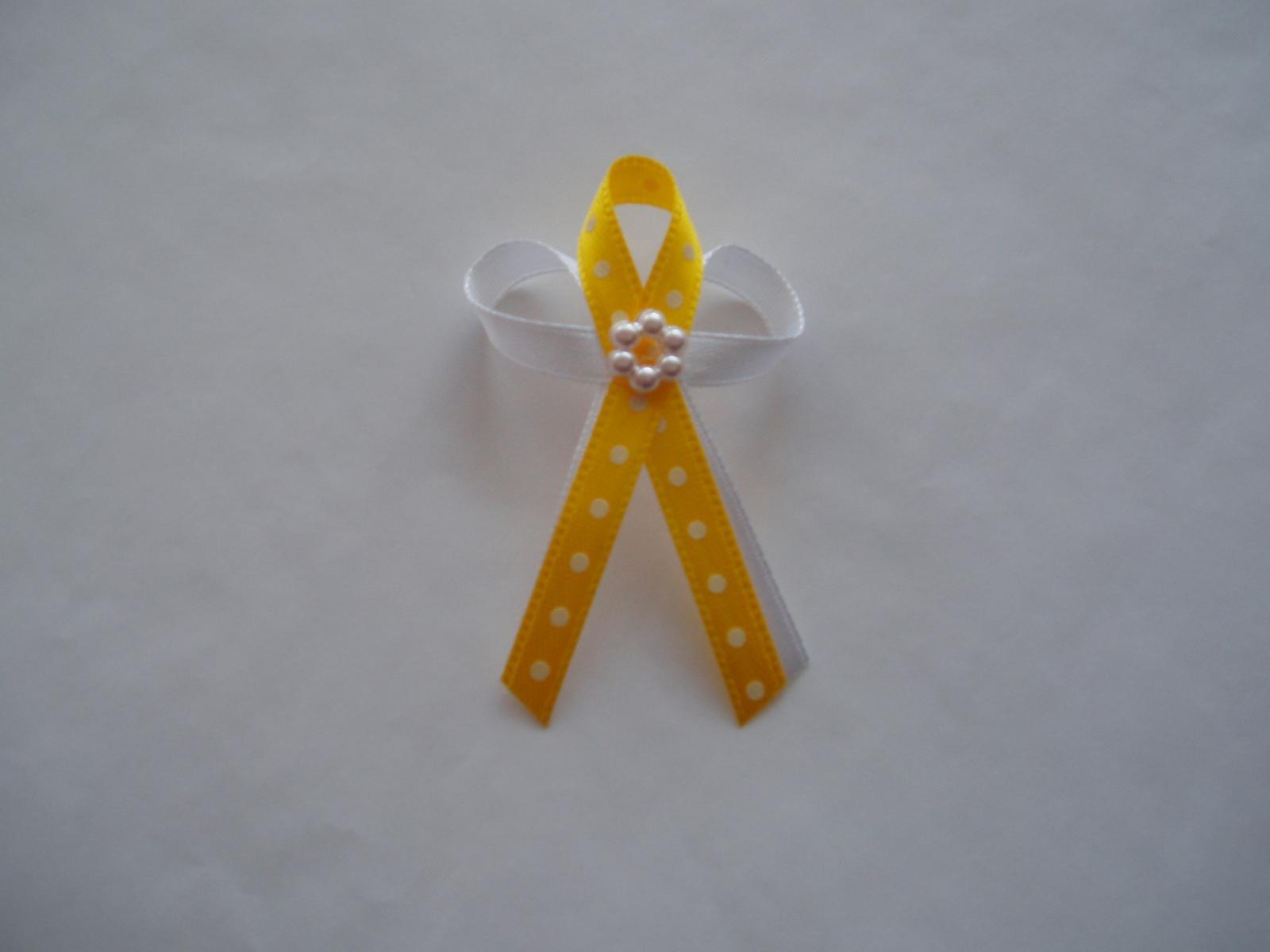 vývazek-žlutý puntík - Obrázek č. 1