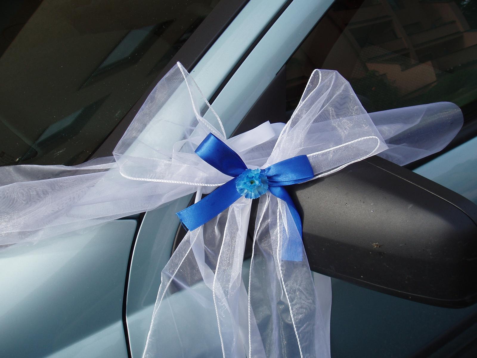 svatební set na auto-modrý - Obrázek č. 2